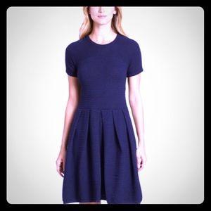 SHOSHANNA Navy Fit-&-Flare Sweater Dress Large